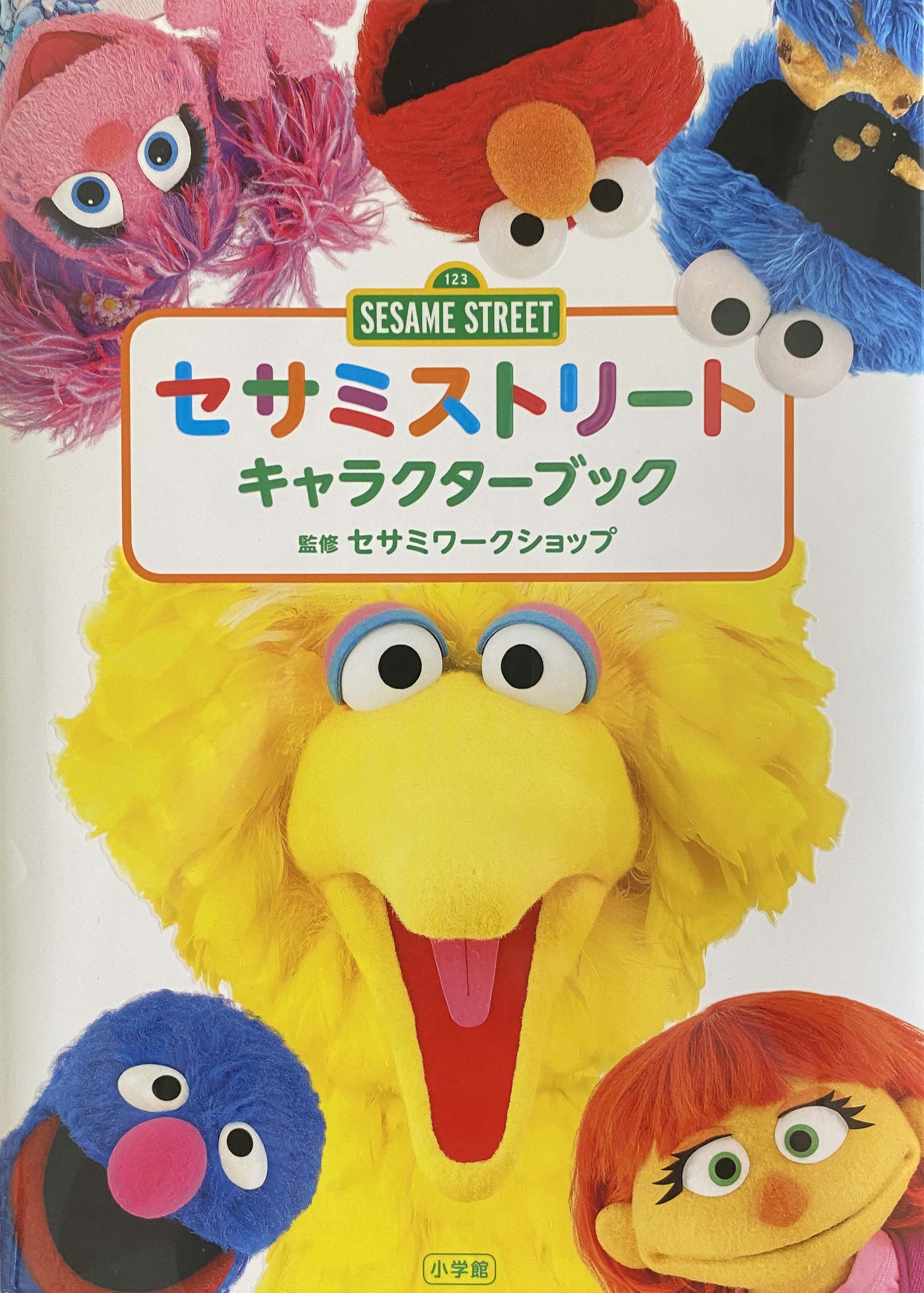 big bird, grover, julia, abby, elmo and cookie monster