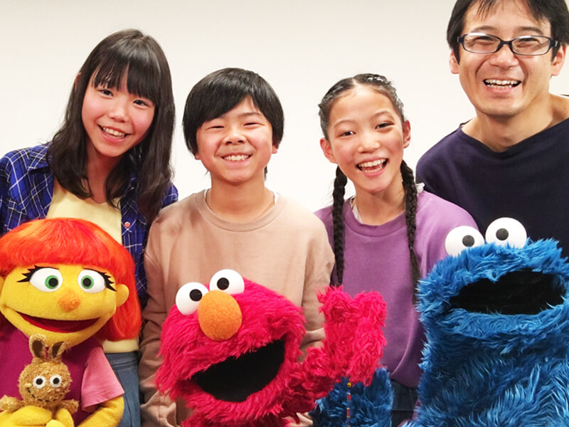 Julia, Elmo, Cookie Monster and friends