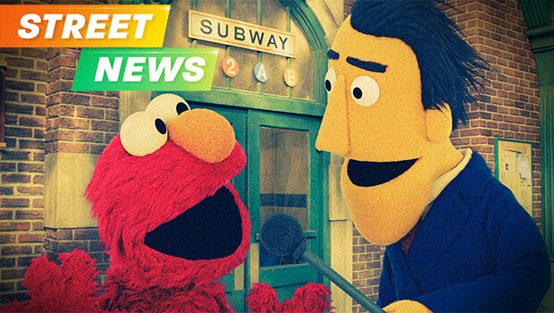 Elmo and Guy Smiley